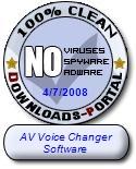 AV Voice Changer Software Clean Award