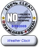 Weather Clock Clean Award