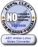 ABC Amber Lotus Notes Converter Clean Award