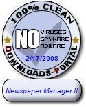 Newspaper Manager II Clean Award