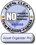 Asset Organizer Pro Clean Award