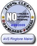 AVS Ringtone Maker Clean Award