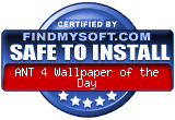 FindMySoft certifies that ANT 4 Wallpaper of the Day is SAFE TO INSTALL