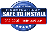 FindMySoft certifies that DRS 2006 Webreceiver is SAFE TO INSTALL