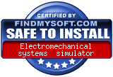 FindMySoft certifies that Electromechanical Systems Simulator is SAFE TO INSTALL