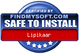 FindMySoft certifies that Lipikaar is SAFE TO INSTALL