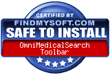 FindMySoft certifies that OmniMedicalSearch Toolbar is SAFE TO INSTALL