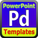 Podium Templates & Backgrounds for PowerPoint Presentation Software with 3D Clipart Designs