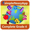 Complete Grade 4 (Math, English, Science) - A simpleNeasyApp by WAGmob