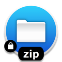Create an encrypted ZIP archive and prompt for Destination