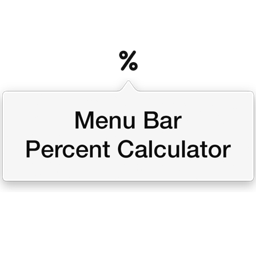 Menu Bar Percent Calculator