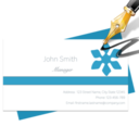 Blue Penguin Business Card Designer