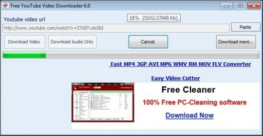 Free Youtube Video Downloader 4 0 Download Free Videodownloader Exe