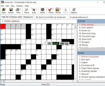 Across Lite Software Informer Across Lite Is A Wonderful Application To Solve And Do Crosswords