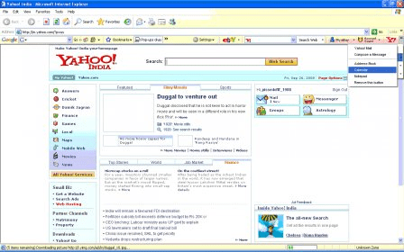 Ebay Toolbar Featuring Yahoo Download Tool For Online Shopping And Access To Yahoo