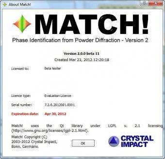 Match xrd crack