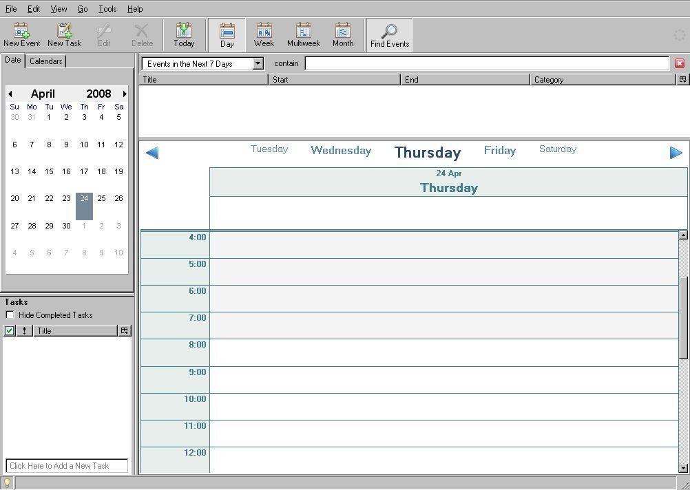 Calendar day view