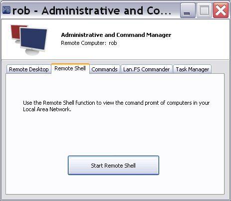 Administrative/Command / Remote Shell tab