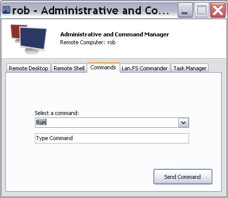 Administrative/Command - Commands tab