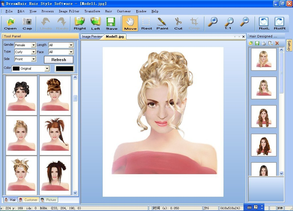 Dreamhair Hair Style Software Download It Is A Professional Hair Style And Makeup Imaging System