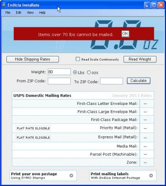 InstaRate 1 2 Download (Free) - Endicia InstaRate exe