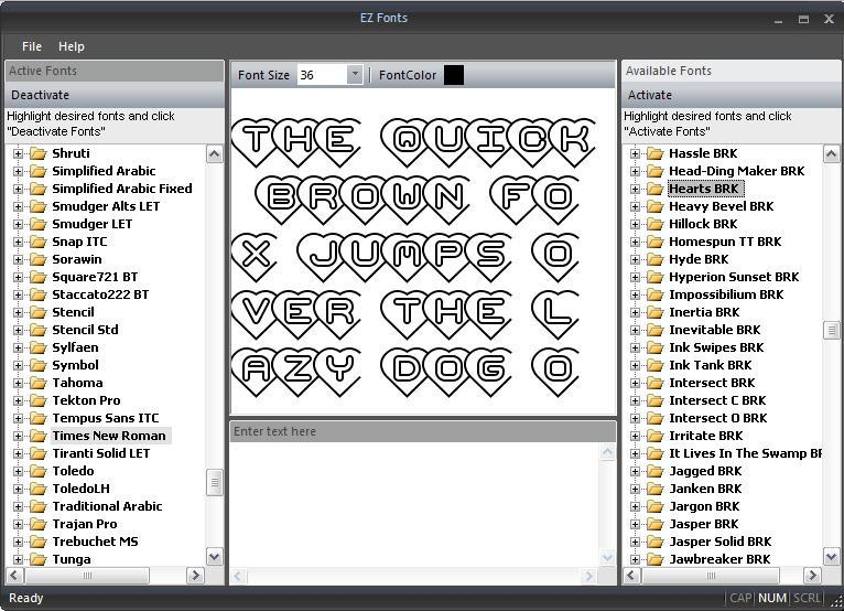 EZ Fonts 1 0 Download (Free) - EZ Fonts exe