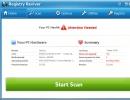Registry Reviver Homescreen