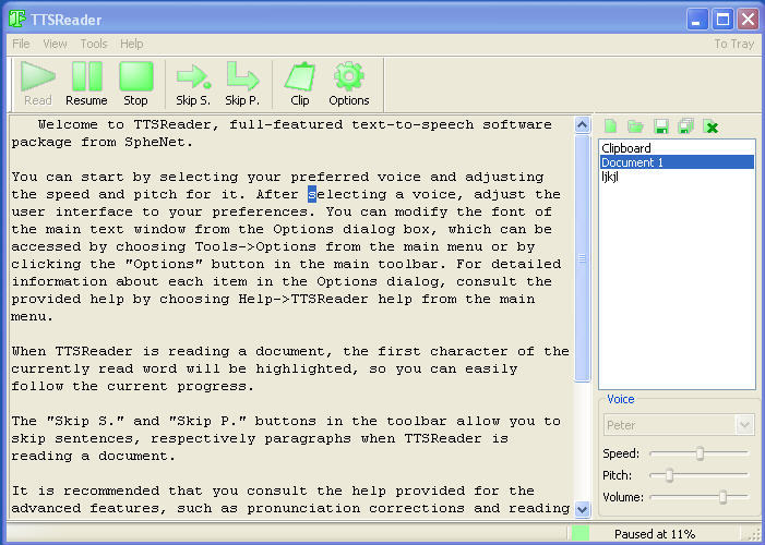 TTSReader 1 3 Download (Free) - TTSReader exe