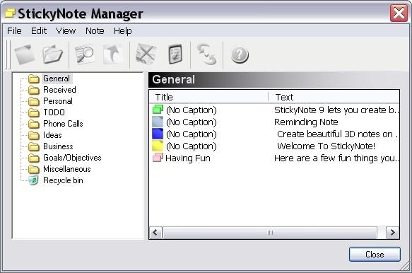 Sticky Note Manager