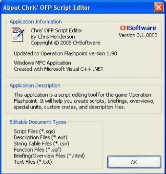 Chris's OFP Script Editor 3 1 Download (Free) - CHOFPSE exe