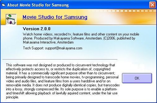 About Movie Studio for Samsung