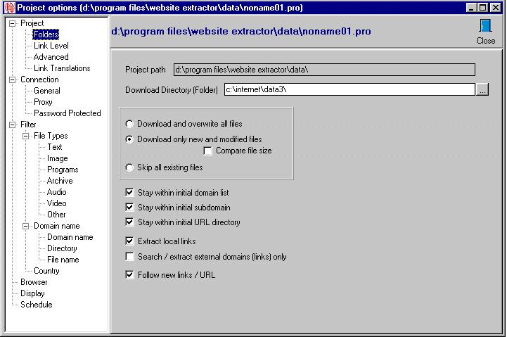 Website Extractor