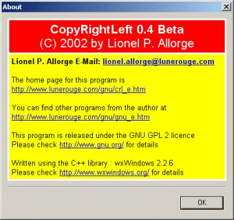 copyrightleft 0.4 beta
