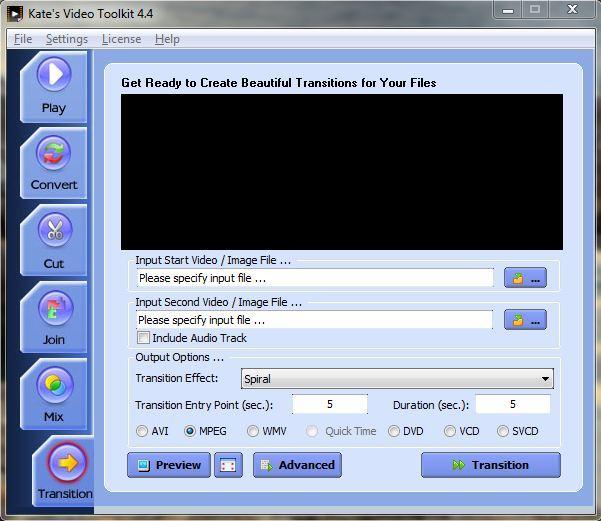 Transition Screen