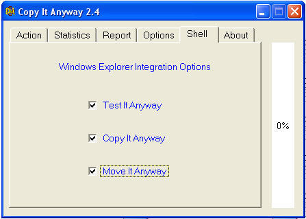 Windows Explorer Integration Options