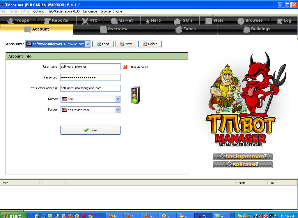 TravianManager Download - TMbot is an Auto-farm bot / Manager