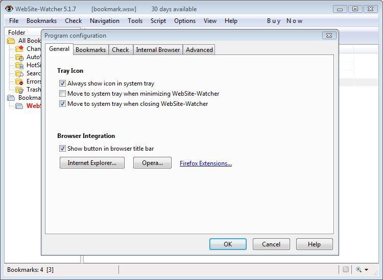 Program Configuration