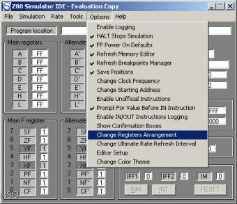 z80 simulator ide 9.55