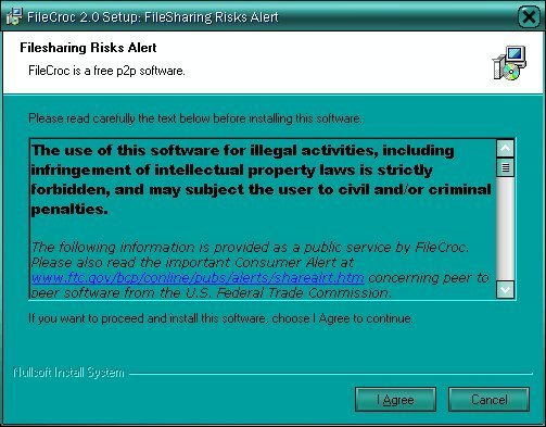 After installation, it shows a Risk alert warning