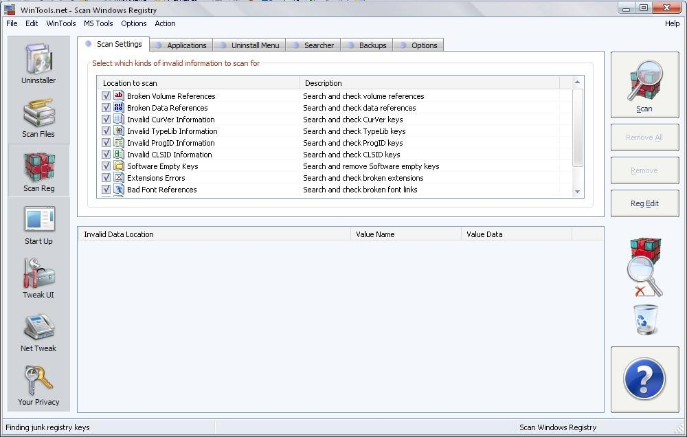 Scan Windows Registry