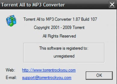 Torrent All to MP3 Converter Download - Video converter