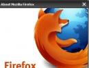 Mozilla Firefox-Version