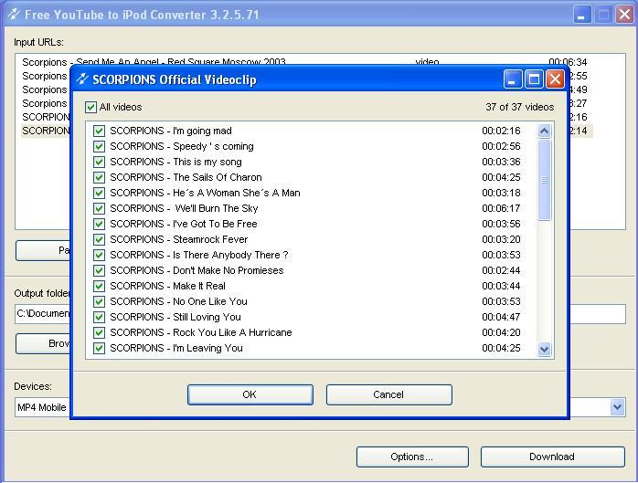 Batch downloading and converting