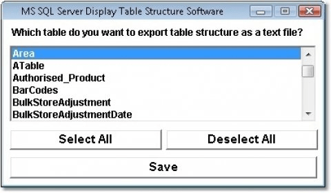MS SQL Server Display Table Structure Software Download Free