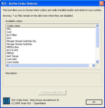 sld codec pack windows 7