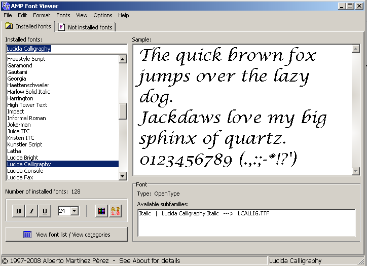 AMP Font Viewer 3 7 Download (Free) - FontViewer exe