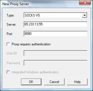 Adding a proxy server