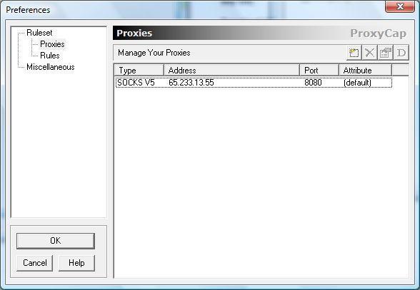 Proxies list