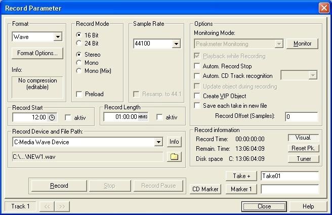 Recording Parameter