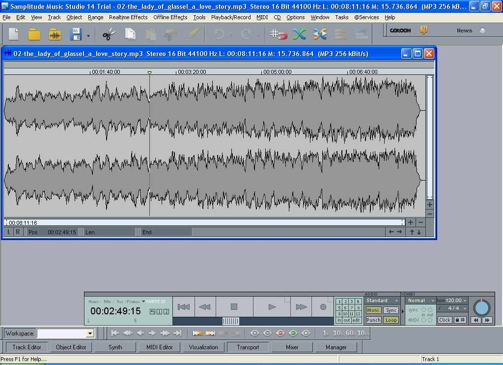 Downloading an audio file